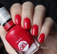 Дневники лакоманьяка: Sally Hansen  Miracle Gel - Red Eye 470 & Sally Ha...