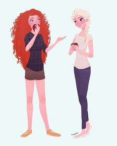 Merida and Elsa :)