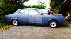 My Ford Zodiac mk4 3L V6 1968. This photo was taken two evening before t bought her on 28th of March 2014.