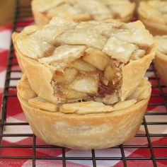 Super easy mini apple pies with a gooey, flavorful filling that everyone will love!