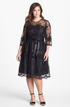 Alex Evenings Fit  Flare Lace Dress (Plus Size) | Nordstrom