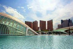 Ciudad de las Artes y las Ciencias diseñada por Santiago Calatrava