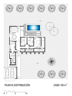 Minimalist House Design, Minimalist Home, Dream House Plans, House Floor Plans, Planos Earthship, Earthship Plans, Maila, Home Room Design, Home Safety