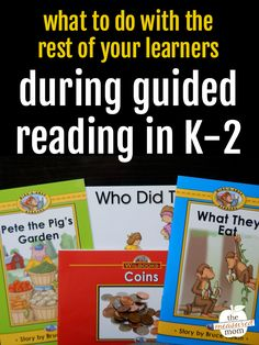 So … you're ready to do guided reading. But what do therest of your students do when you're working with small groups? This post has the answer! In the past eight weeks, we've gone through both the big pictureand the little details you need to know to make guided reading work. I named 10 reasons why guided reading is important in K-2. I explained the guided reading levels. I listed...Read More »