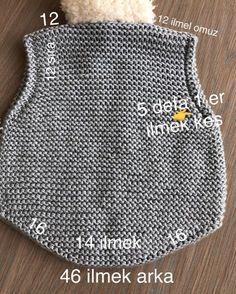 Best 12 – Page 522628731755199667 – Skil - Diy Crafts - Marecipe Baby Boy Knitting Patterns, Knitting For Kids, Knitting Stitches, Crochet Socks, Diy Crochet, Crochet Baby, Poncho With Sleeves, Knit Vest Pattern, Knitted Baby Cardigan
