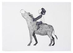 nemonane | Drawing – Donkey pace