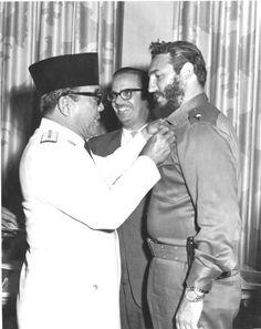 Sukarno dan Fidel Castro, Kuba, 1960