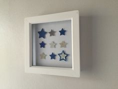 Image of Stars - Tiny - Blue and Silver Star Images, Blue And Silver, Paper Art, Alphabet, Nursery, Quote, Stars, Frame, Handmade