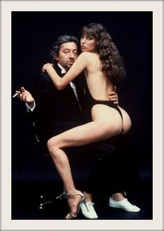 Serge Gainsbourg and Jane Birkin by Helmut Newton, 1978