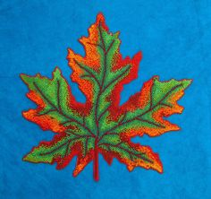 Judy Tepley, Fall Leaf, 12 by 12 inches, framed 17 by 17 inches