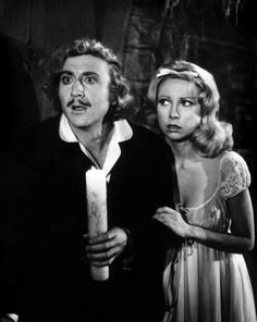 Gene Wilder and Terri Garr in Young Frankenstein (1974)