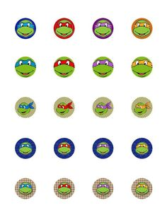Ninja Turtles for cupcakes