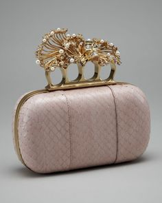 Punk Pearl Shell Box Clutchtch by Alexander McQueen