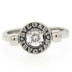 Bulgari Bvlgari Diamond 18k Gold Flip Ring