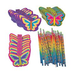Buy+All+&+Save+Neon+Butterfly+Stationery+-+OrientalTrading.com