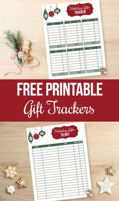 Keep track of all your gift buying with these FREE Printable Christmas Gift Trackers. Pin to your Christmas Board!