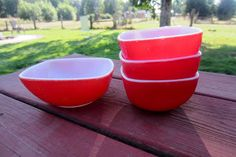 Market Display - Pyrex hostess bowls - for tasting bowls