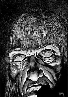 Virgil Finlay, an American pulp fantasy, science fiction and horror illustrator who specialized in pen and ink drawings.