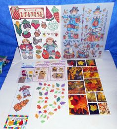 Scrapbooking Lot of Fall Stickers     A9 #Various