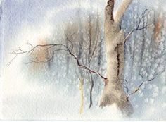 Make your own christmas cards, free art lessons ... All kinds of free art lessons, watercolor!