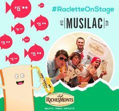 Avis aux fondus de Raclette et de musique, on vous embarque au festival Musilac pour un moment toujours plus fun, toujours plus rock, toujours plus #RacletteOnStage !!! Laissez votre humeur festive s'exprimer et partez à la conquête du festivalle...