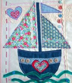 This cute sailboat canvas will make a perfect gift for any little girl! This picture is made to order using a pretty combination of fabrics, including lovely florals, and is finished with lace and buttons. Size is 12x16 & 1.5cm deep. This unframed canvas picture is covered with ivory fabric and is ready to hang on the wall of your little girl's bedroom, nursery or playroom. PLEASE VISIT MY SHOP TO SEE MORE DESIGNS FOR BOYS & GIRLS http://www.etsy.com/shop/SwinkyDoo PERSONAL MESSAGE OPTI...