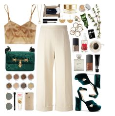 """""""Tulsa"""" by sophiehackett ❤ liked on Polyvore featuring Delpozo, NARS Cosmetics, Aurélie Bidermann, Ray-Ban, Gucci, NYX, Orlane, Burt's Bees, Speck and Korres"""