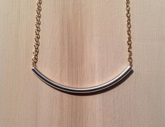 Simply beautiful curved two tone silver and gold by lovelybylara, $15.00