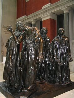 """""""Les Bourgeois de Calais"""" (completed in 1889),  by Auguste Rodin. Bronze. Calais, France."""