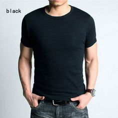 short sleeve shirt  http://www.aliexpress.com/store/802966/211328847-537675207/New-Fashion-Men-tshirt-tops-short-sleeve-shirt-Casual-Slim-Fitting-T-shirt-TOP-QUALITY-black.html  $15.99