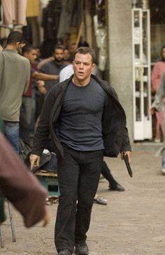 Matt Damon as Jason Bourne (The Bourne Identity, The Bourne Supremacy, The Bourne Ultimatum) Matt Damon Jason Bourne, The Bourne Ultimatum, Bourne Supremacy, Great Films, Good Movies, Akira, Bourne Movies, Bourne Legacy, Movies
