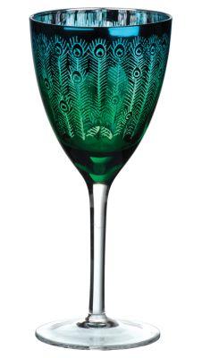 Beautiful Peacock Glass