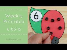 Weekly Printable For Preschool and Kindergarten 6-06-16 - YouTube