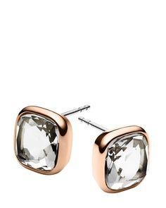 Michael Kors Cushion Stone Stud Earrings