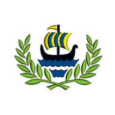 SAILING LOGO Viking Laurel Wreath Nautical Marine by TracenLines