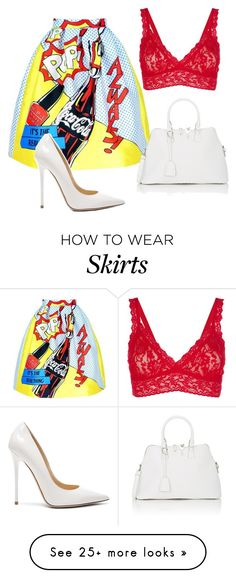 """skirt"" by lolaalmalki on Polyvore featuring Hanky Panky, Maison Margiela and Jimmy Choo"