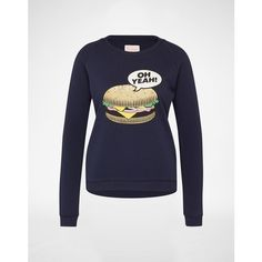 Oh Yeah! Sweatshirt 'Burger' Damen schwarz