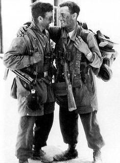Fallschirmjager after the fall of Crete, 1941.