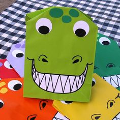 Dinosaur Treat Sacks  Roar T Rex Dino Birthday Party by jettabees, $12.50