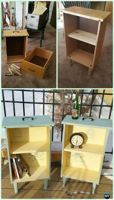 DIY Upcycled Drawer Side Tables Instruction - Practical Ways to Recycle Old Draw. - DIY Upcycled Drawer Side Tables Instruction – Practical Ways to Recycle Old Drawers for Home