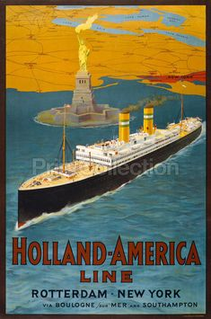 Holland-America Line, around 1950.