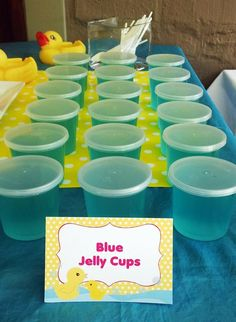 Blue Jelly Cups