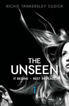 The Unseen Volume 1: It Begins/Rest In Peace by Richie Tankersley Cusick.  Out walking alone one rainy night, Lucy becomes convinced that someone--or something--is following her. Soon she begins having terrifying visions and dreams--and she still can't shake the feeling of an unseen presence, always watching, waiting . . .