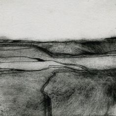 "June Russell - Drypoint landscape ""Dales"""