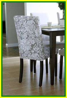 Video Tutorial: How To Reupholster Dining Chairs And . How To Re Cover An Upholstered Chair HGTV. Dining Room: High Impact Way To Improve Your Home With . Reupholster Chair Dining, Slipcovers For Chairs, Fabric Dining Room Chairs, Dining Room Seating, Chair Fabric, Living Room Sales, Dining Chairs, Chair Cover, Upholstered Chairs