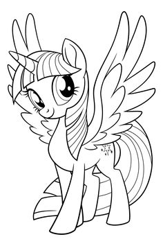 My Little Pony Coloring Kids Pages For Colouring