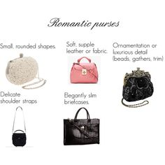 """""""Kibbe's romantic purses"""" by oscillate on Polyvore"""