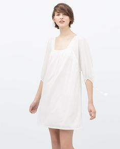 Image 1 of PUFF SLEEVE DRESS from Zara
