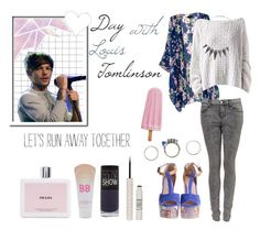 """""""♥ Day with Louis Tomlinson ♥"""" by sarkata-boo-bear ❤ liked on Polyvore featuring Carven, HANIA by Anya Cole, Prada, Iosselliani, Maybelline, White Leaf, Topshop, Payne, OneDirection and 1d"""