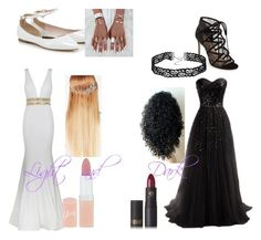 Light and dark by transformerlover on Polyvore featuring polyvore, fashion, style, Jovani, Pour La Victoire, Rimmel, Lipstick Queen, John Lewis and clothing